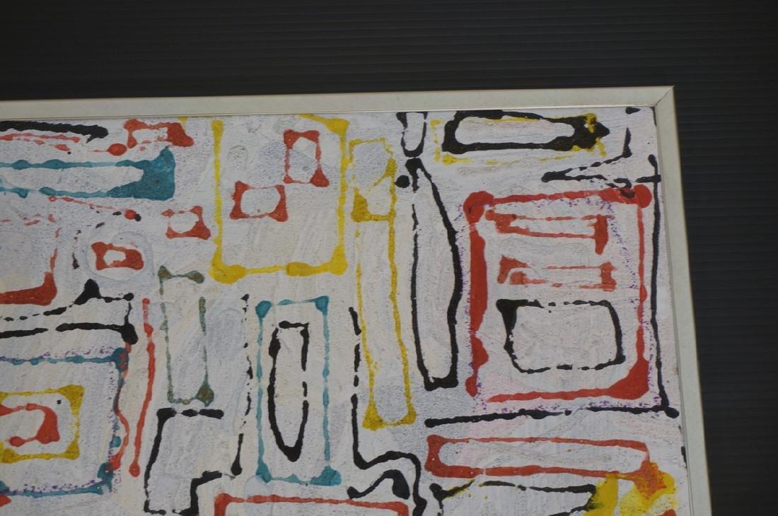 "JAMES EDWARD JONES Modernist Abstract Painting. "" - 4"