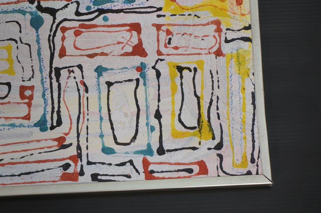 "JAMES EDWARD JONES Modernist Abstract Painting. "" - 5"