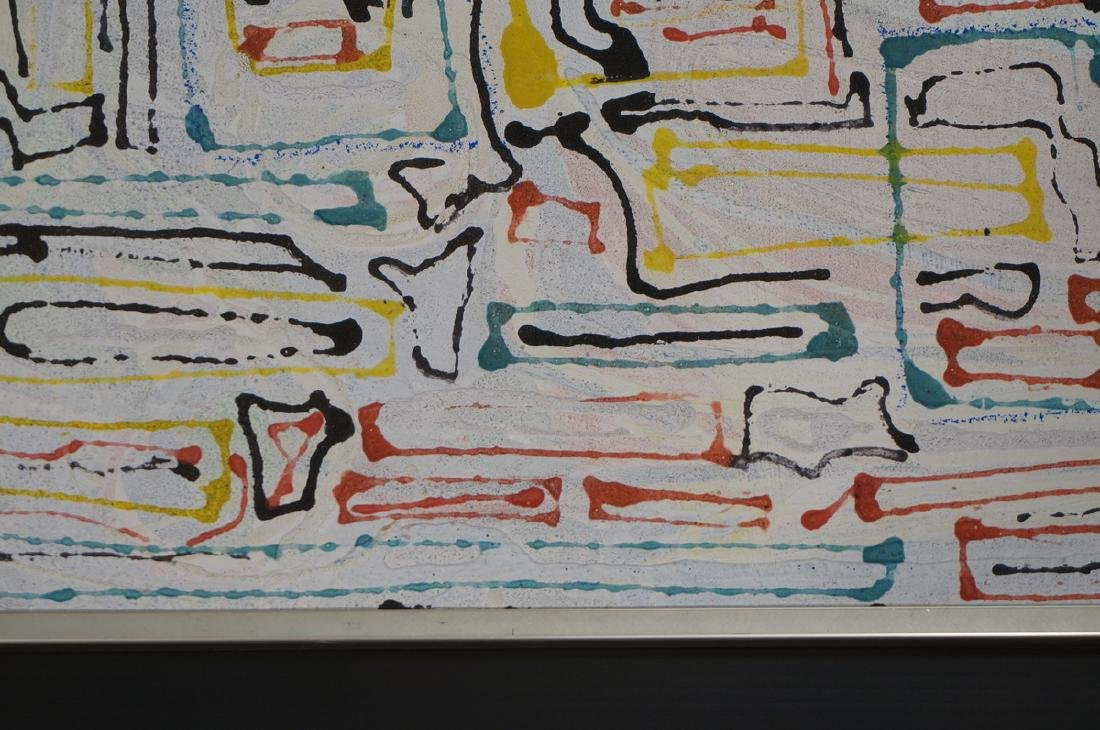 "JAMES EDWARD JONES Modernist Abstract Painting. "" - 6"