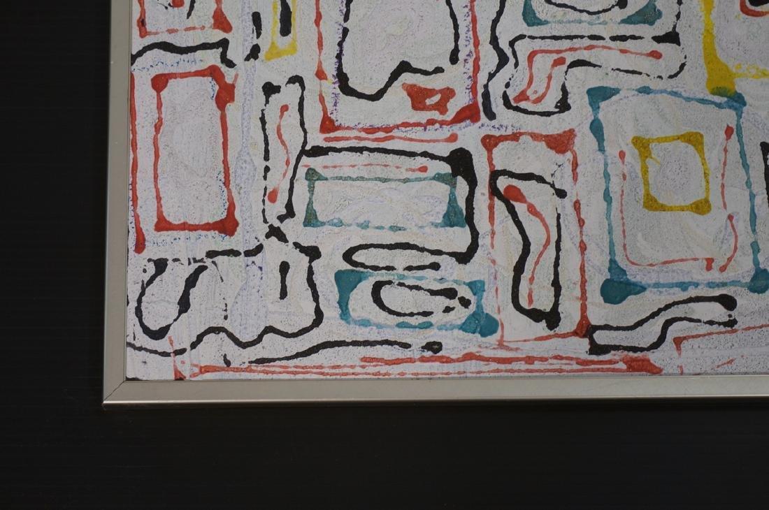 "JAMES EDWARD JONES Modernist Abstract Painting. "" - 7"