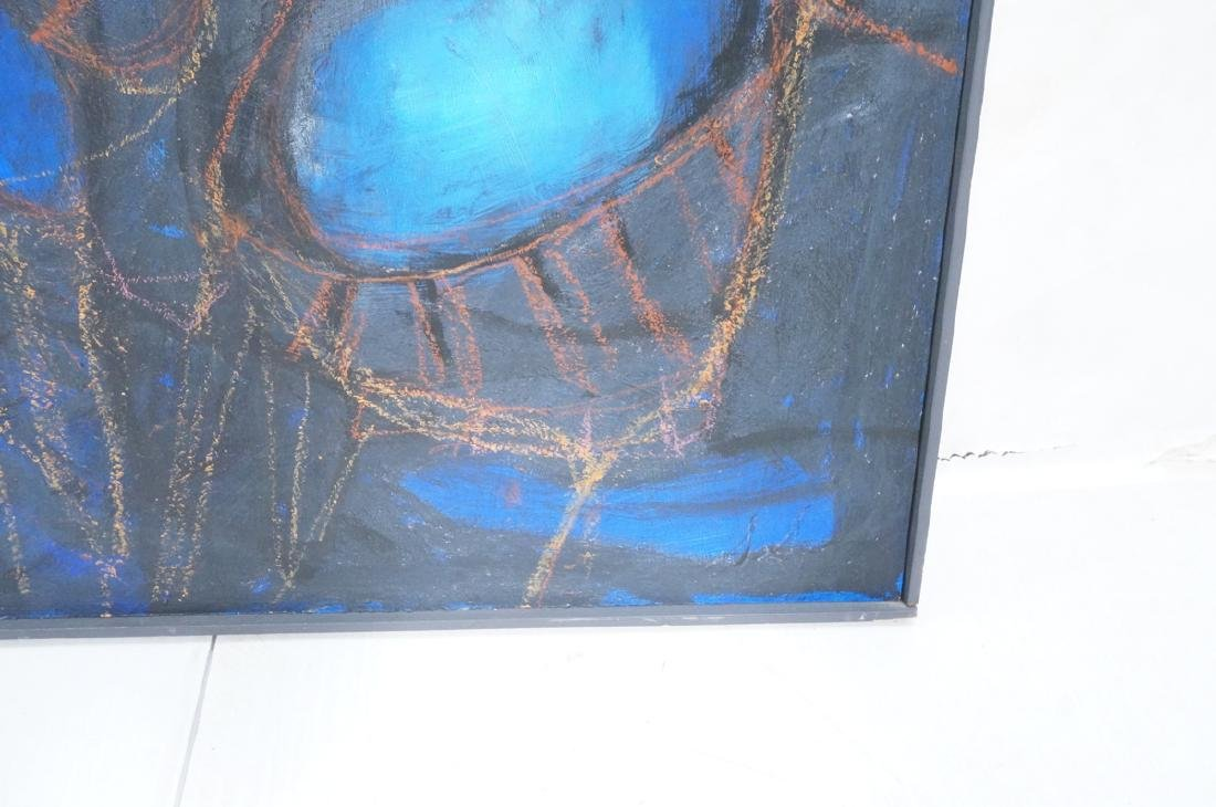 Modernist Abstract Acrylic Painting. Blue ground - 4