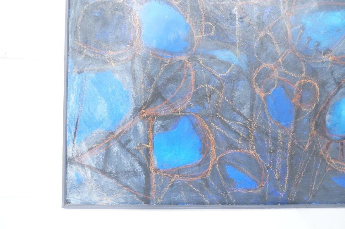 Modernist Abstract Acrylic Painting. Blue ground - 6