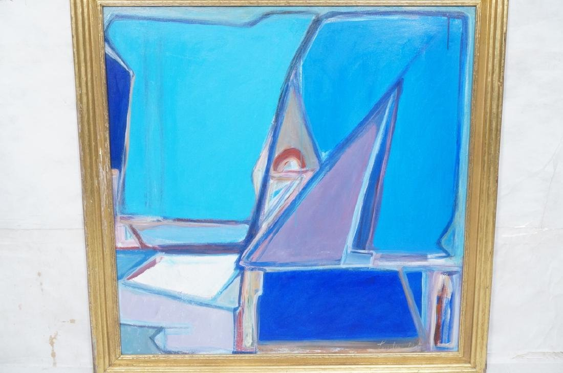 JIMMY LUEDERS Modernist Abstract Painting. Graphi - 2
