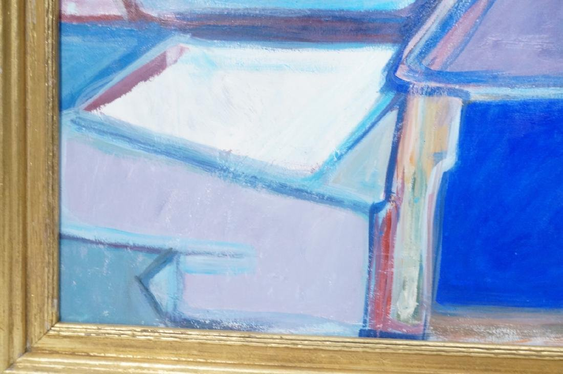 JIMMY LUEDERS Modernist Abstract Painting. Graphi - 6