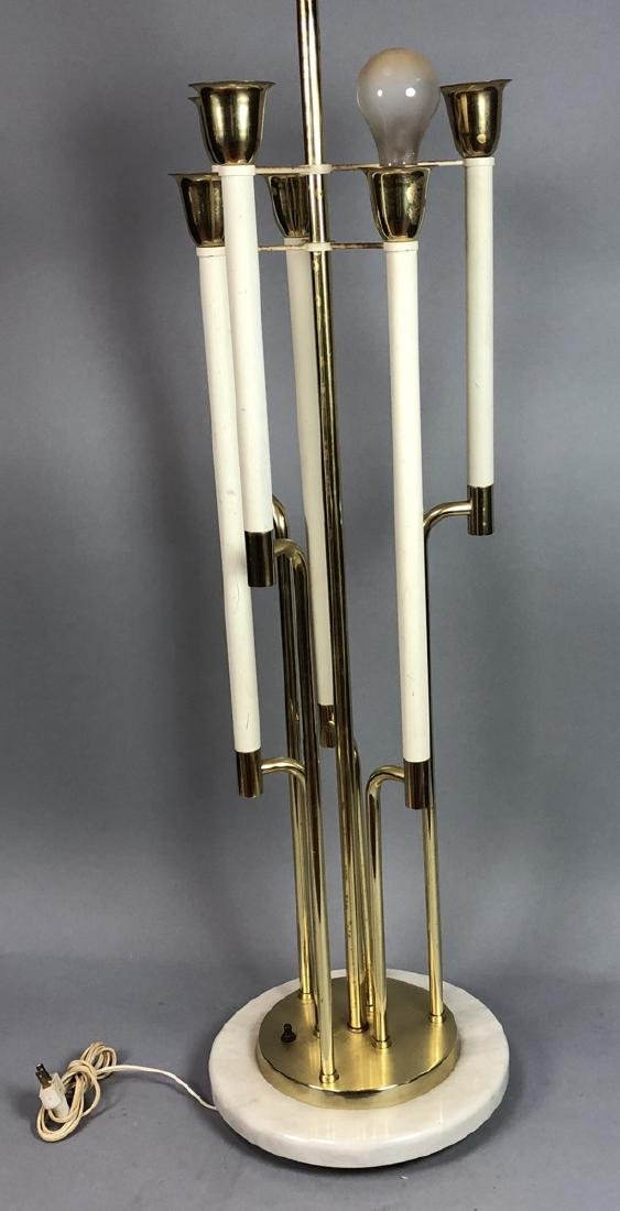 Marble & Brass Modern TOMMI PARZINGER Style Lamp.