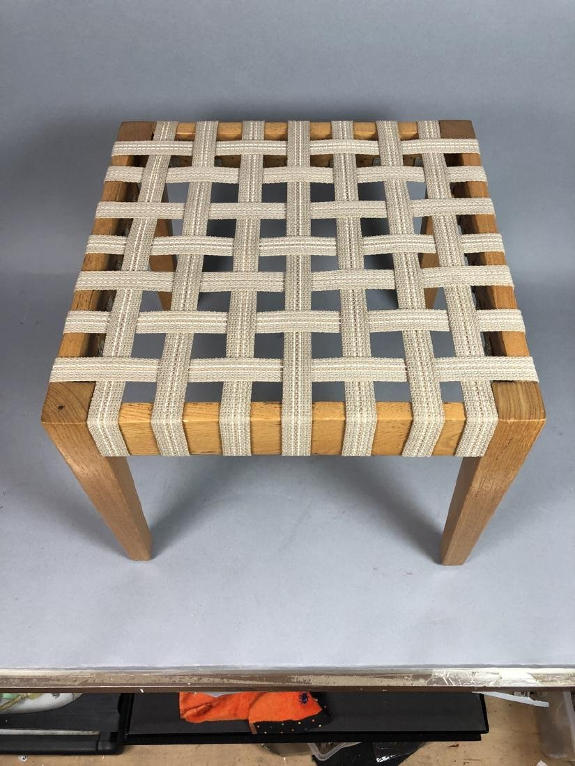 Set 4 Modern Square Stacking Stool Benches. Wood - 4