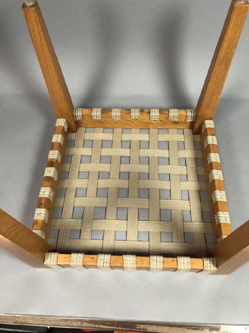 Set 4 Modern Square Stacking Stool Benches. Wood - 5