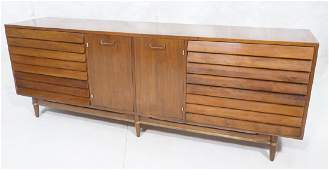 AMERICAN of MARTINSVILLE Walnut Credenza Sideboar