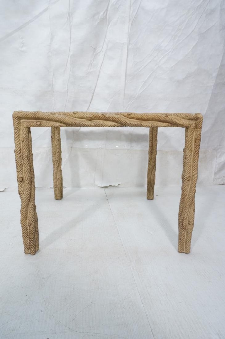 Decorator Faux Bois Square Occasional Table. Text - 2