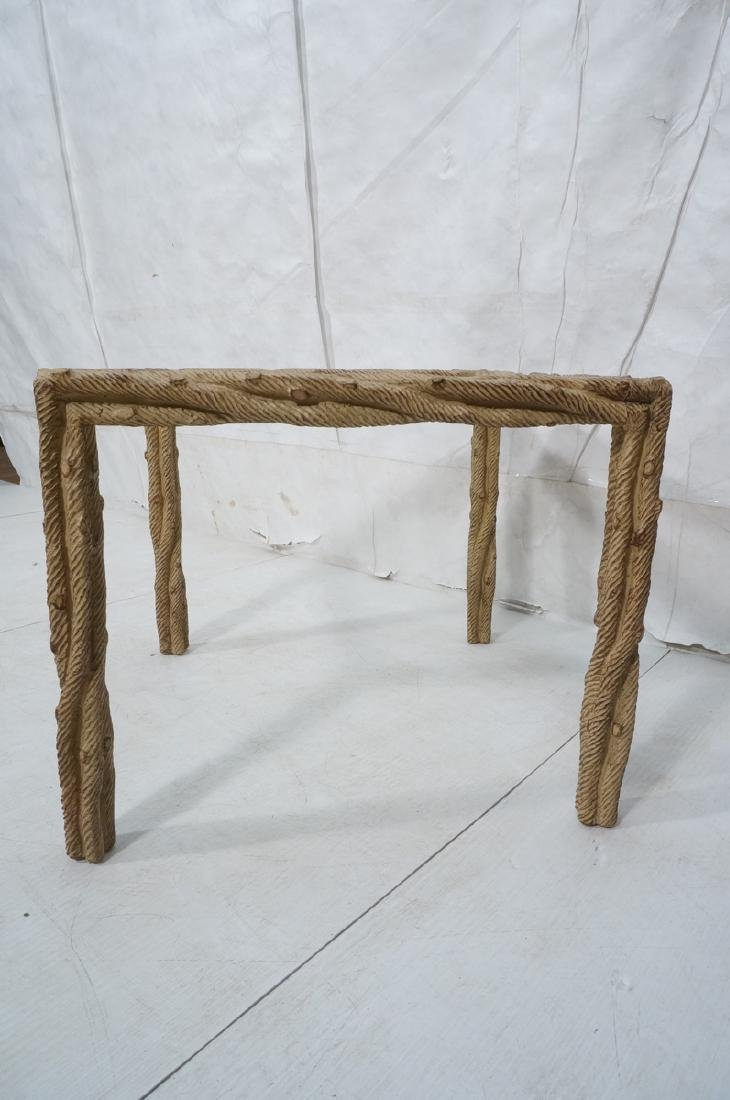 Decorator Faux Bois Square Occasional Table. Text - 3
