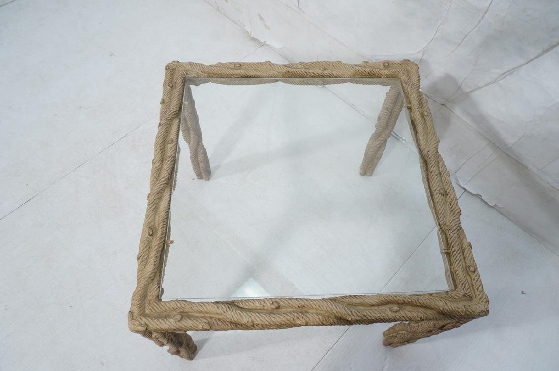 Decorator Faux Bois Square Occasional Table. Text - 4