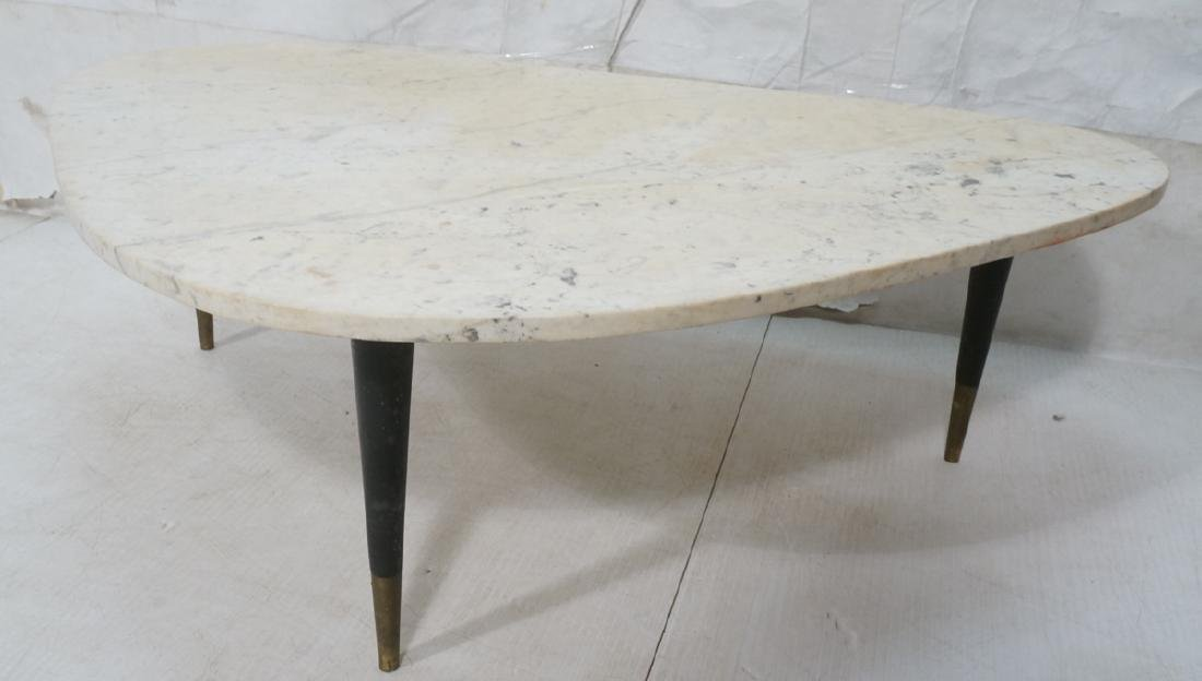 Italian Modern Triangular Marble Top Cocktail Table