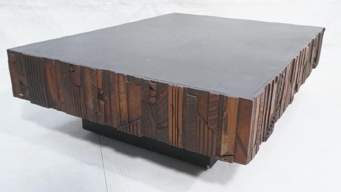 "Brutalist Rectangular Coffee Table.  7"" high Scul"