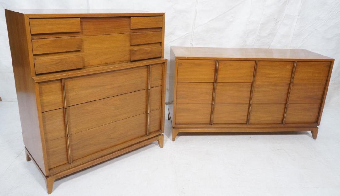 2pc AMERICAN of MARTINSVILLE Bedroom Set. High ch