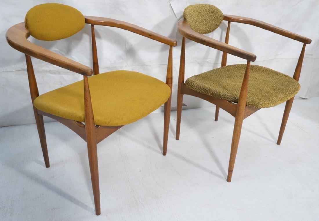 Pr Mid Century Modern Arm Lounge Chairs. Elegant