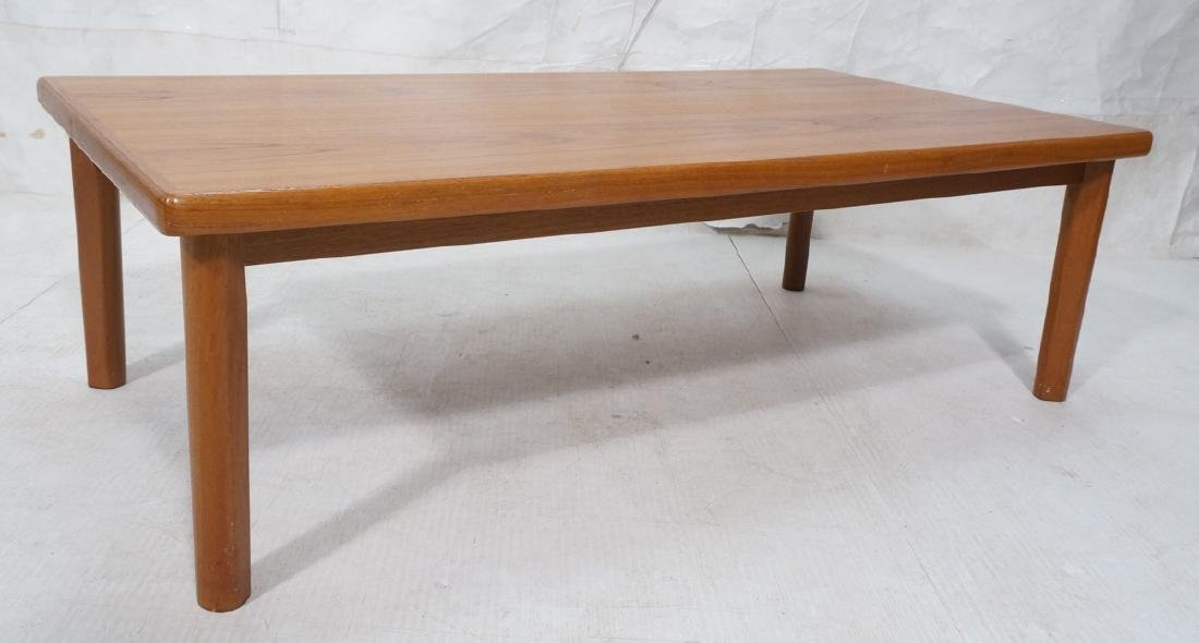 Danish Modern Teak Coffee Table. Thick banded top