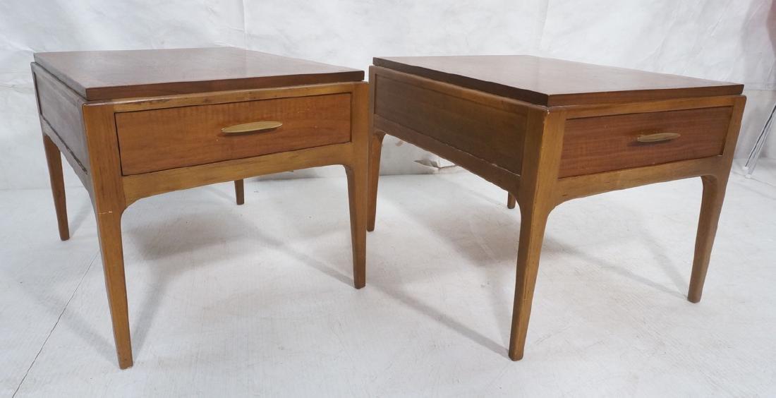 Pr LANE American Modern Side Tables Night Stands.
