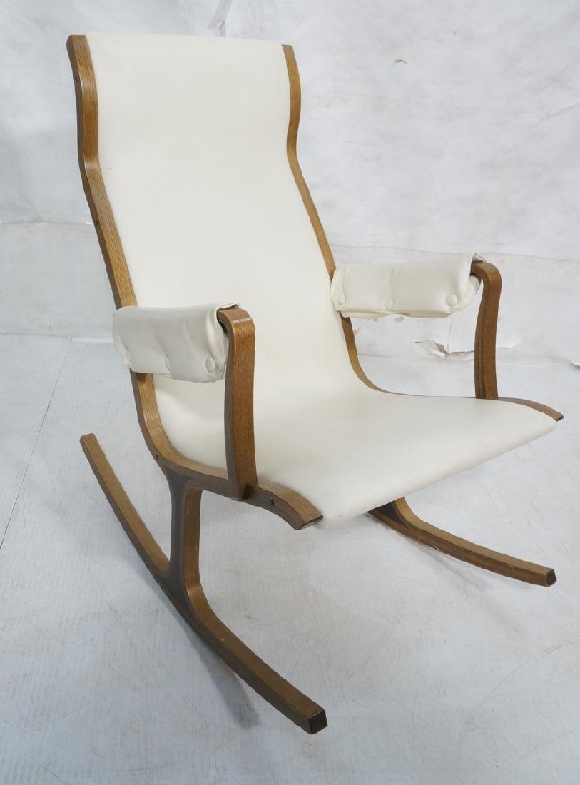 Tendo Mokko Mid Century Modern Laminated Wood Roc