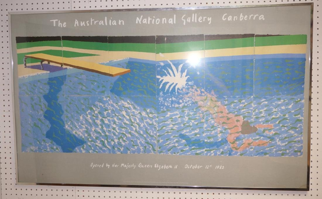 DAVID HOCKNEY Swimming Pool Exhibition Poster. 19