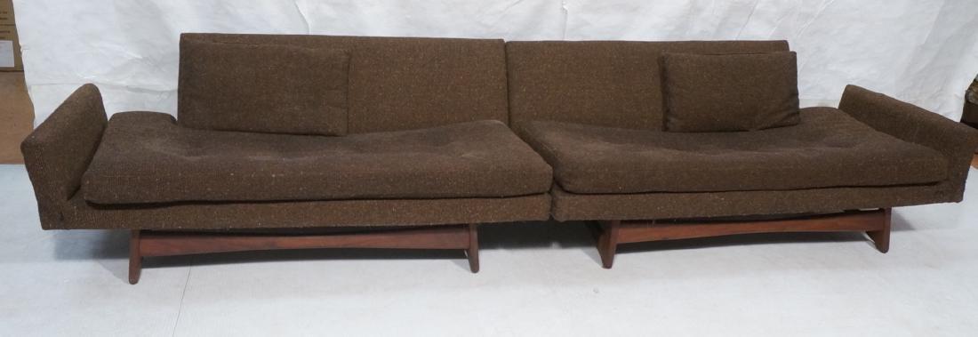 2pc ADRIAN PEARSALL Mid Century Sofa Seating. 2 c