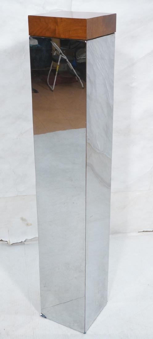MILO BAUGHMAN Chromed Laminate Tall Display Pedestal
