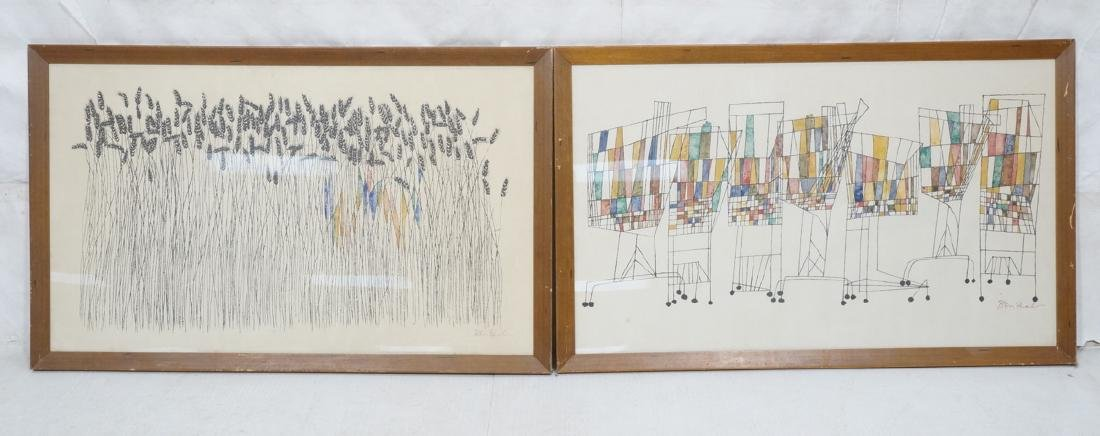 BEN SHAHN Large Printed Posters. 1) Wheat & Grass