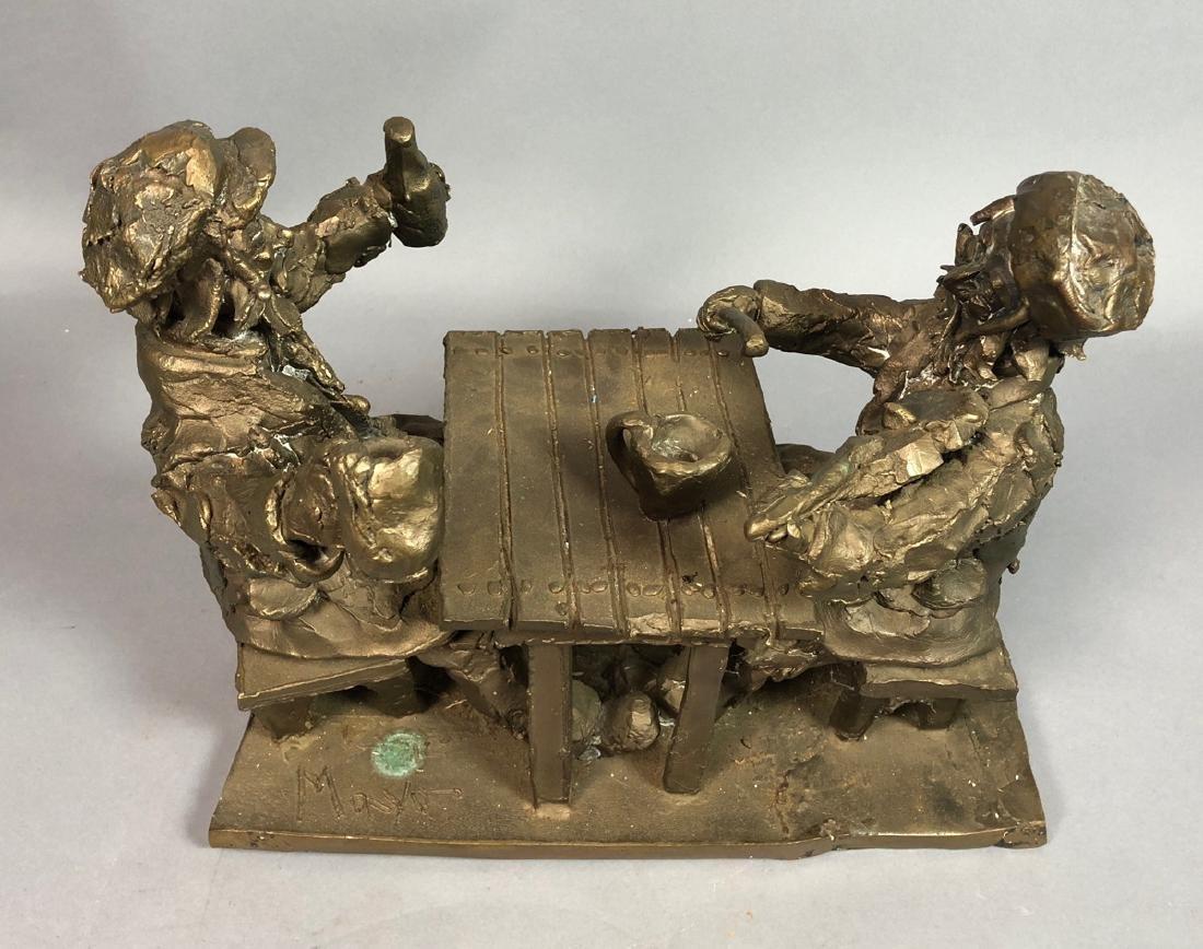 MANYO Bronze Figural Sculpture.  Two European Men