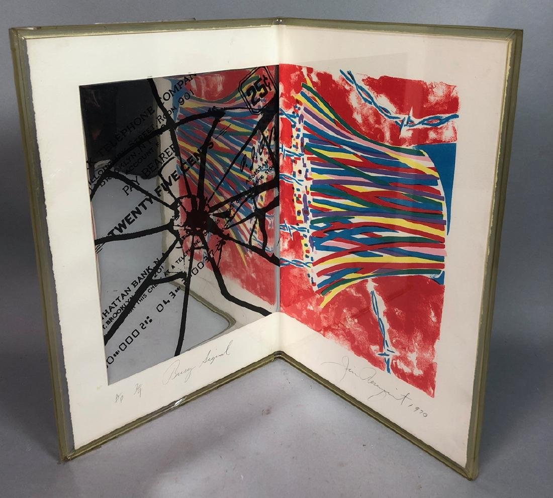 "JAMES ROSENQUIST Signed 1970 Double Prints. ""Busy"