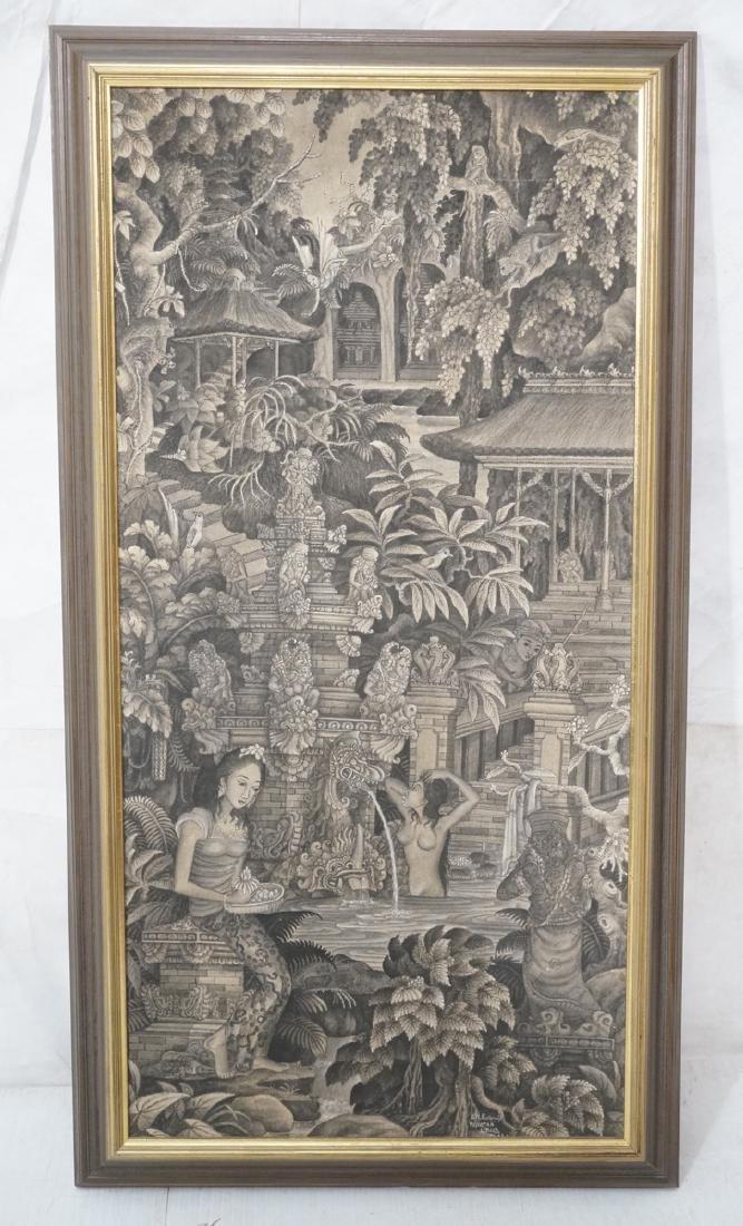 Balinese Painting  signed G.N KWANDJI Pejiatan. L