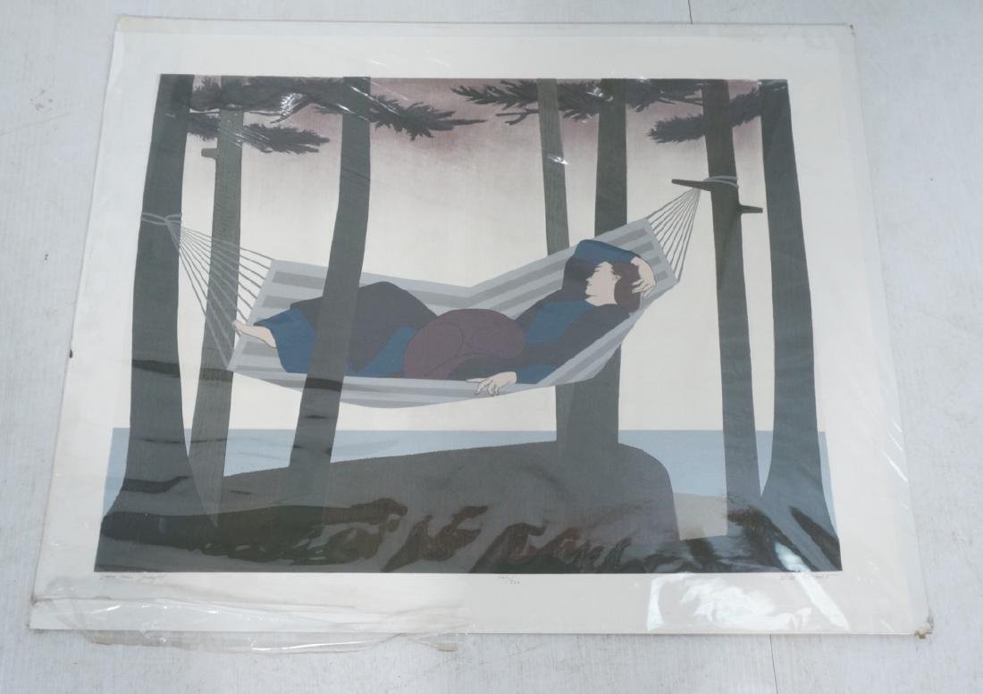 """WILL BARNET  Large Lithograph Serigraph Print. """"S"""