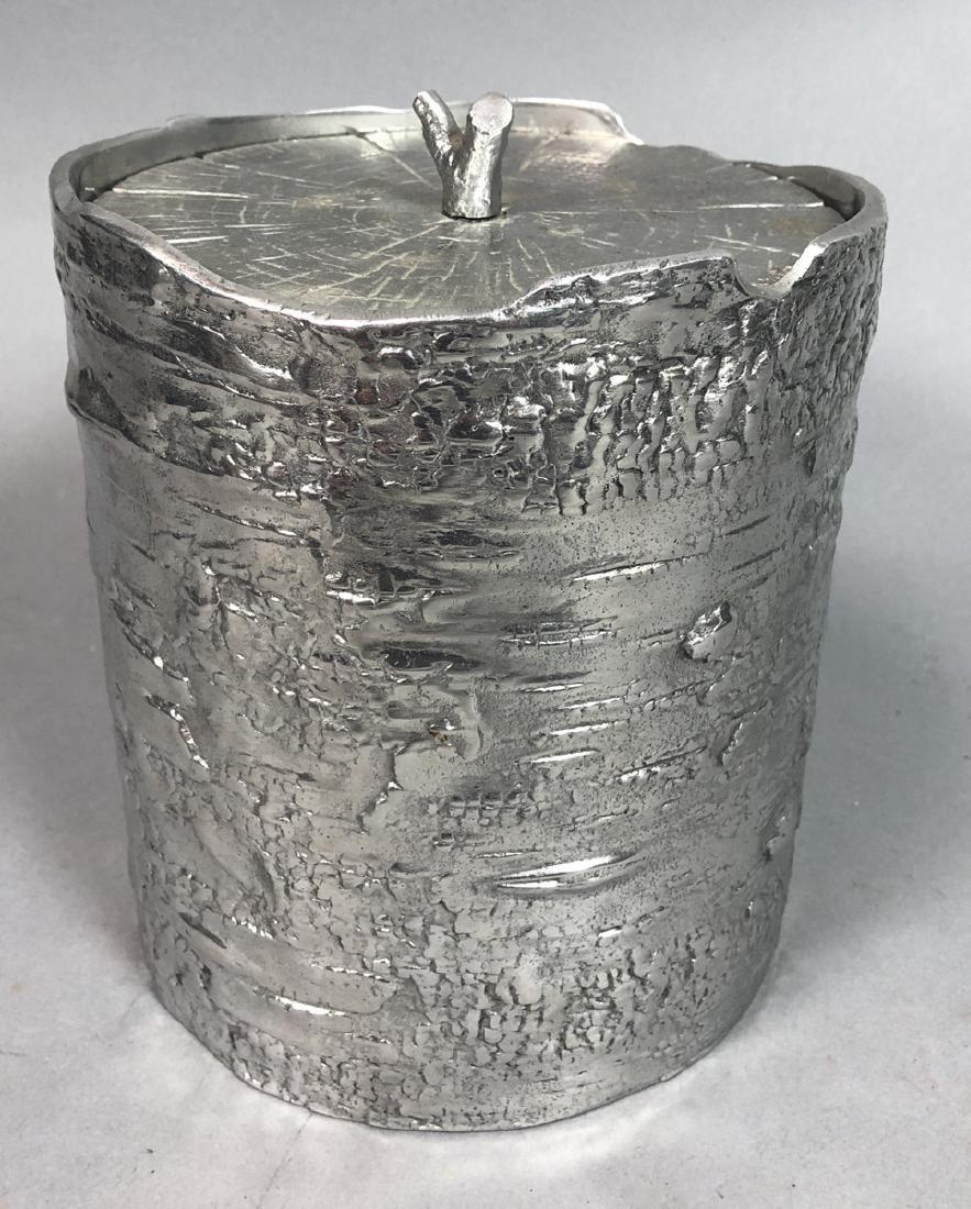 MICHAEL ARAM Tree Form Lidded Ice Bucket. Bark Te