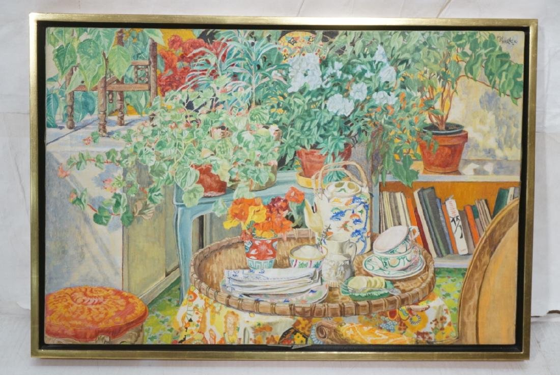 MacKENDRICK Oil Painting. Modernist Still Life wi