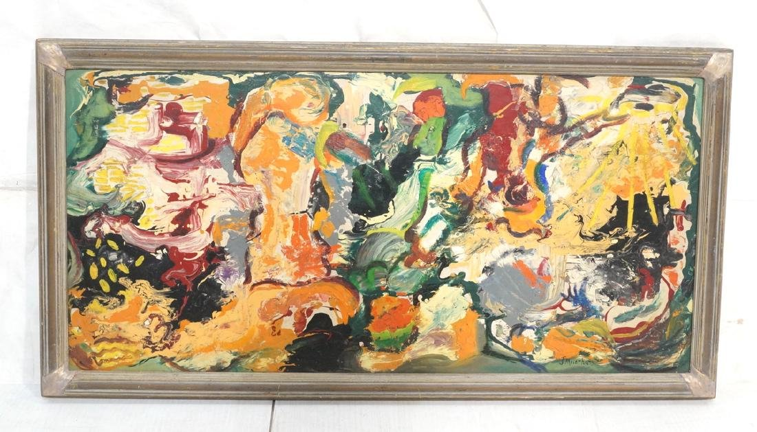 JOSEPH MEIERHANS Abstract Modernist Oil Painting.