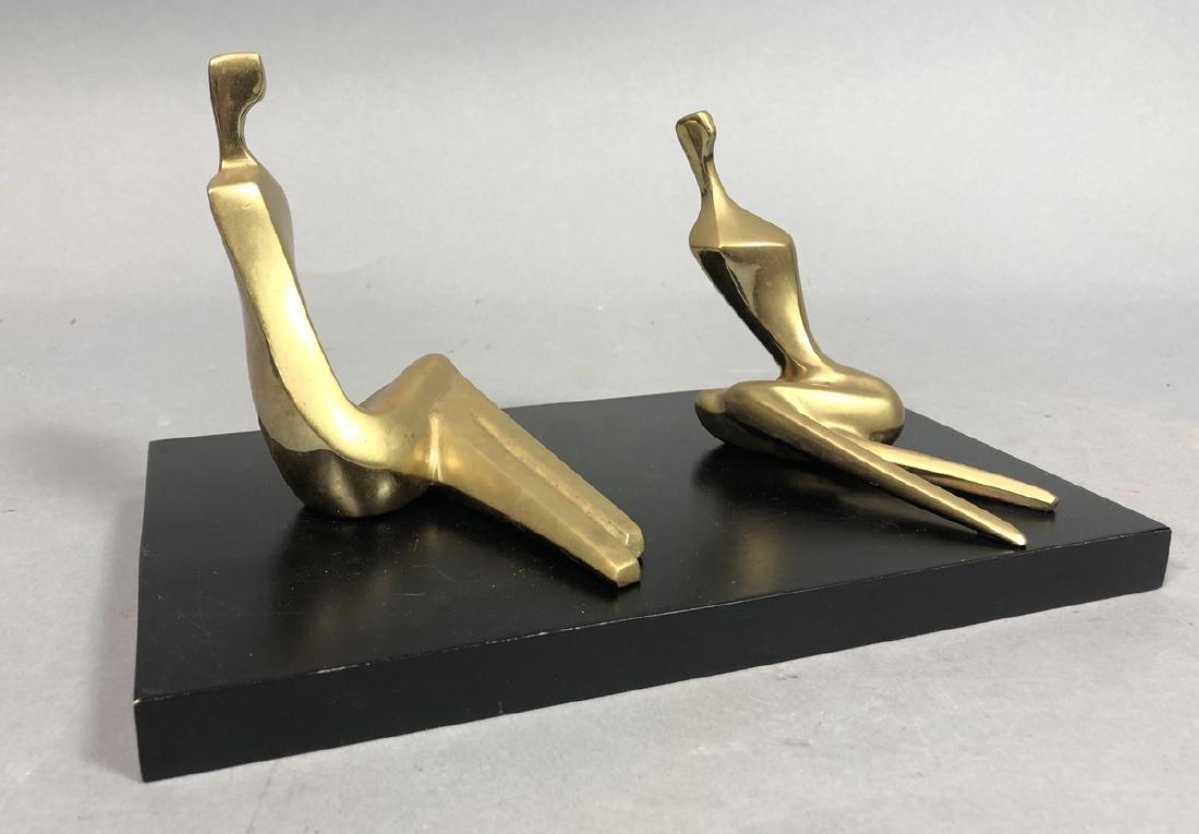 2 Itzik BENSHALOM Signed Figural Bronze Sculpture