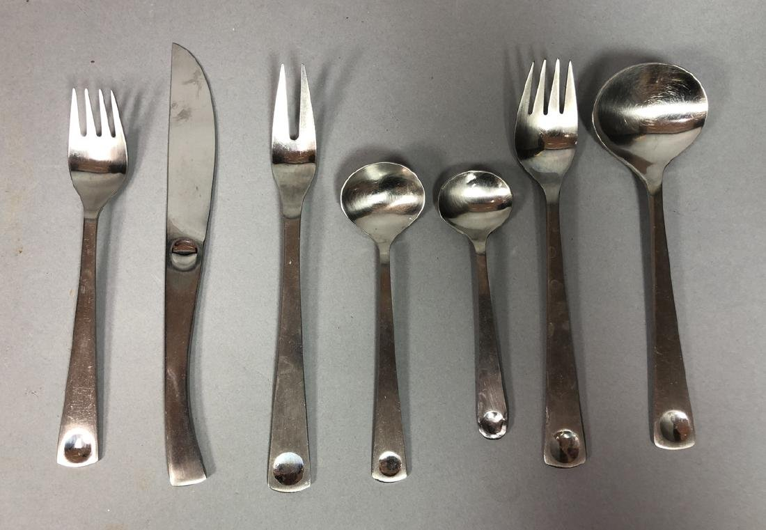 49pc ROSENTHAL PLUS Stainless Flatware. Modernist