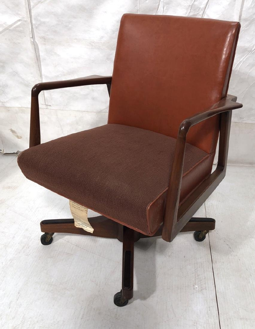 Mid Century Rolling Desk Office Chair. JOHNSON CH