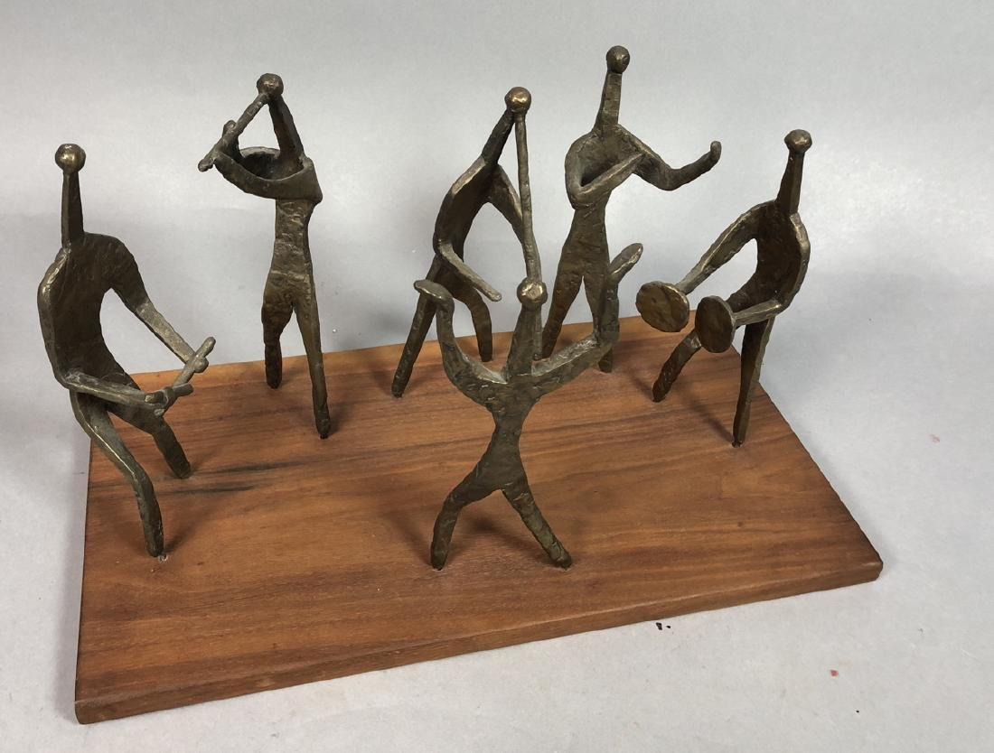 Brutalist Metal Figural Sculpture. Metal Band Mus