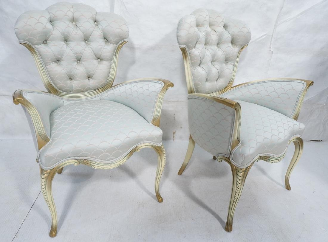 Pair of 50's French Provincial Fireside Chairs. P
