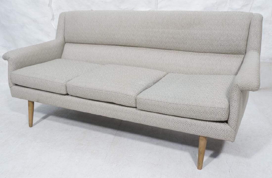 Modernist DUX style Sofa Couch. Tapered wood legs