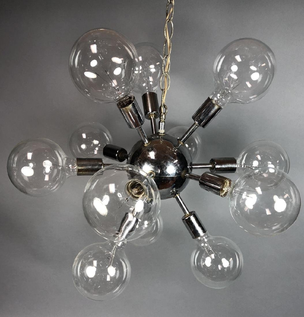 Modern Chrome Sputnik Atomic Hanging Chandelier.
