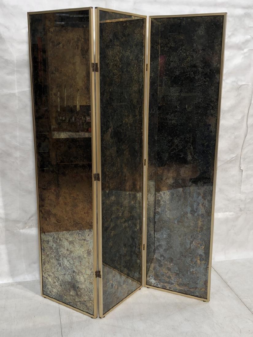 Three Panel Mirrored Dressing Screen Room Divider