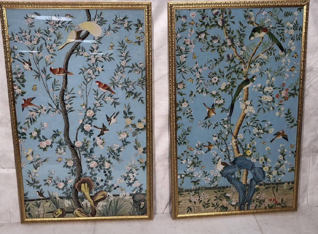 Pr CHELSEA HOUSE Handpainted Silk Oil Paintings.