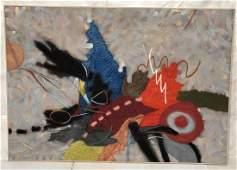 HELEN BERSHAD Modernist Oil Painting Large Overs