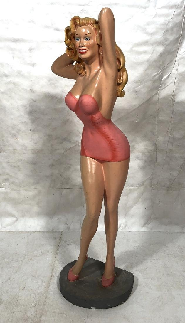 Vintage Molded Resin Life Size Jayne Mansfield. a