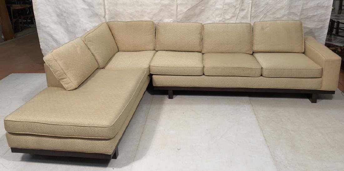 THAYER COGGIN 2pc Sectional Sofa. One arm sofa co
