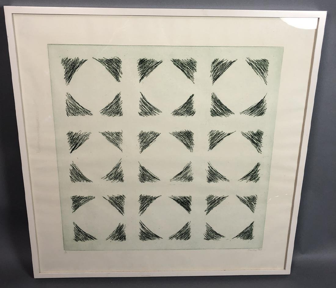 Signed KIM LIM Modernist Abstract Engraved Print.