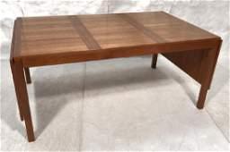 Danish Modern Teak Drop Side Dining Table. Two 20