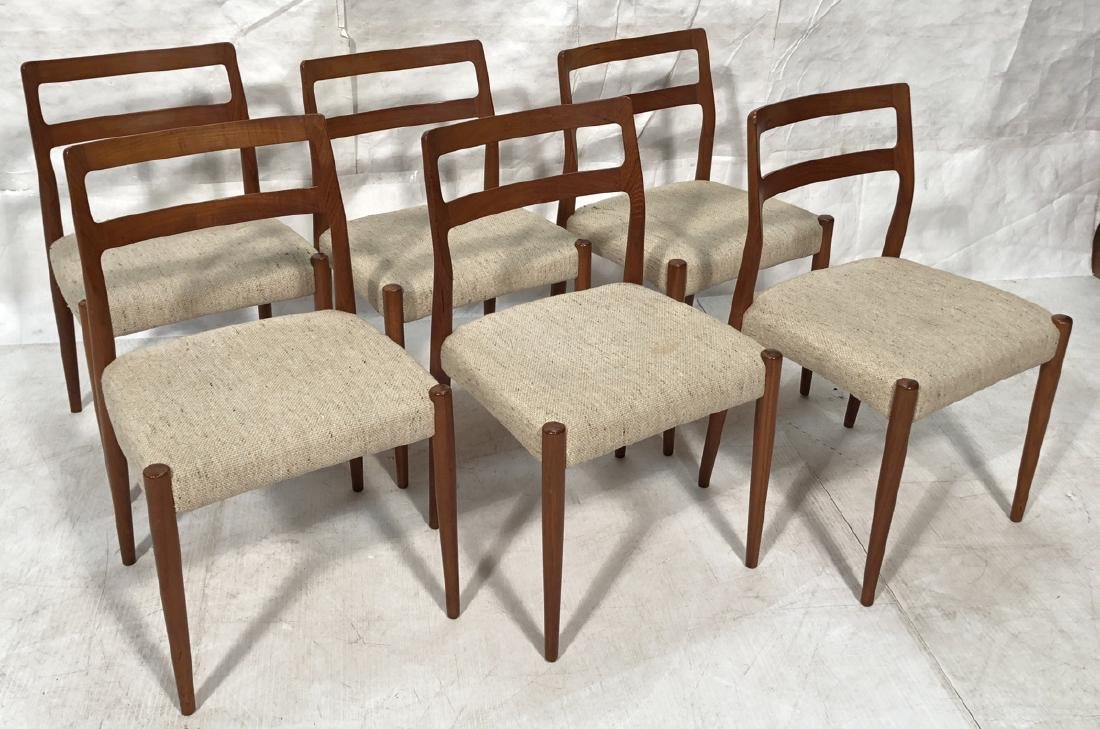 Set 6 ULDUM Mobelfabrik  Dining Side Chairs with