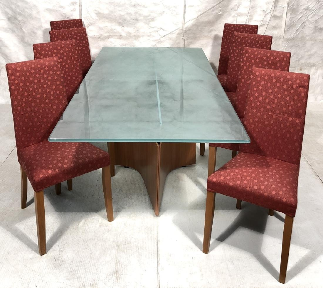 SAPORITTI Italia 9 pc Dining Set Table & Chairs.