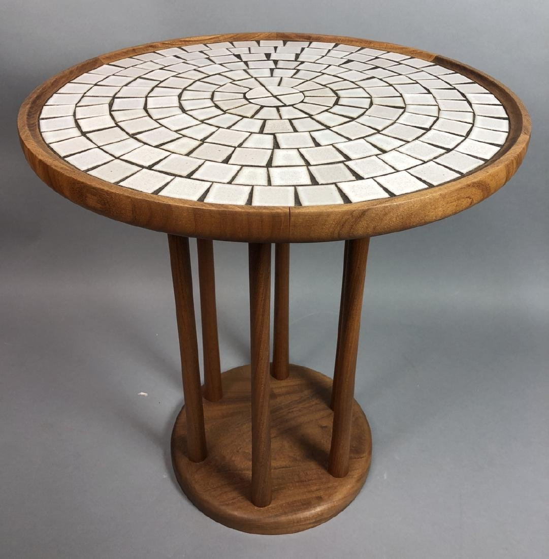 MARTZ for MARSHALL STUDIOS Tile Top Round Table.